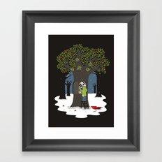 Dissolute tree Framed Art Print