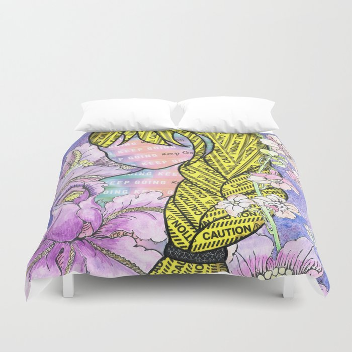 Keep Going (With Anxiety Confined) Duvet Cover