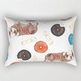 Bulldogs and donuts Rectangular Pillow