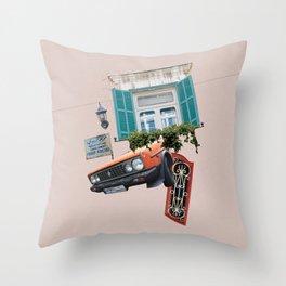 Psychedelic Gemmayzeh - Beirut  Throw Pillow