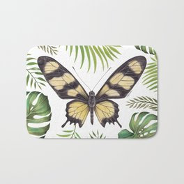 Butterfly Painting | Hahnel's Amazonian Swallowtail | PARIDES HAHNELI | Nature | Animal Art Bath Mat