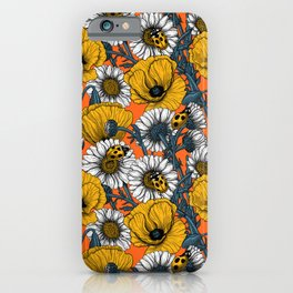 The meadow in yellow and orange iPhone Case