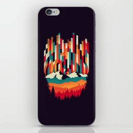 Sunset in Vertical Multicolor iPhone Skin