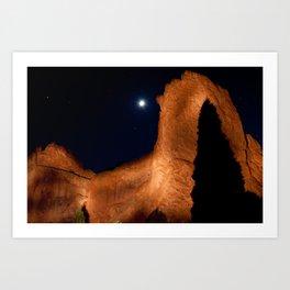 Midnight on the Rocks Art Print