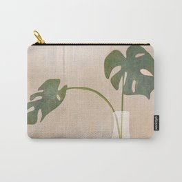 A Couple of Monstera Leaves Carry-All Pouch