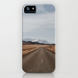 Iceland road iPhone Case