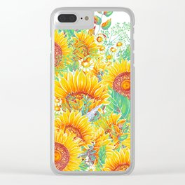 Summer Garden 7 Clear iPhone Case