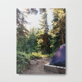 Home Is Where the Tent Is Metal Print