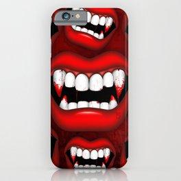 Vampire Bloody Fangs iPhone Case