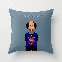 literature Throw Pillows featuring Victorian Literature - Tennyson by Natallia Pavaliayeva