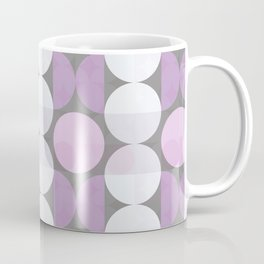 pink grey circular pattern Coffee Mug