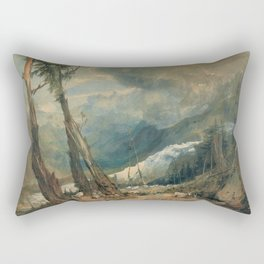 "J.M.W. Turner ""Mer de Glace, in the Valley of Chamouni"" Rectangular Pillow"