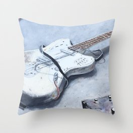 rock n roll guitar Throw Pillow