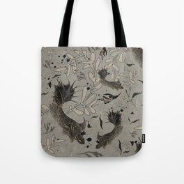 Lost. It's where she feels at ease. Tote Bag