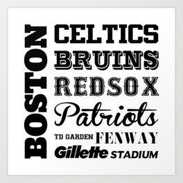 Boston Sports Art Print