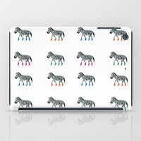 socks iPad Cases featuring ZEBRA SOCKS by Patricia de Cos