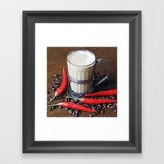 MILK COFFEE and CHILLI Framed Art Print