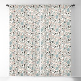 Terrazzo pattern in cold pastel colors Blackout Curtain
