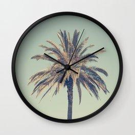 Retro palm tree Wall Clock