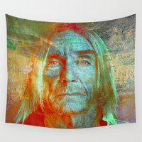 iggy Wall Tapestries featuring Iggy by Joe Ganech
