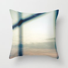 Good morning, moon Throw Pillow