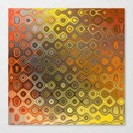 Wobbly Dots in yellow-orange Canvas Print