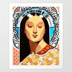 Santa Pagana Art Print