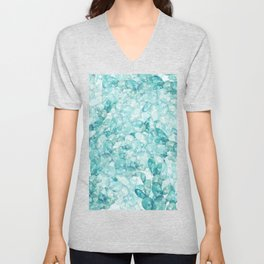 green cactus watercolor pattern Unisex V-Neck