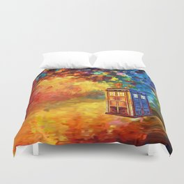 Police Phone Box at Rainbow city Art painting iPhone 4 4s 5 5c 6 7, pillow case, mugs and tshirt Duvet Cover