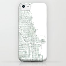 Map Chicago city watercolor map Slim Case iPhone 5c