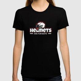 Helmets Are For Boys Funny Lacrosse Sport Lover T-shirt