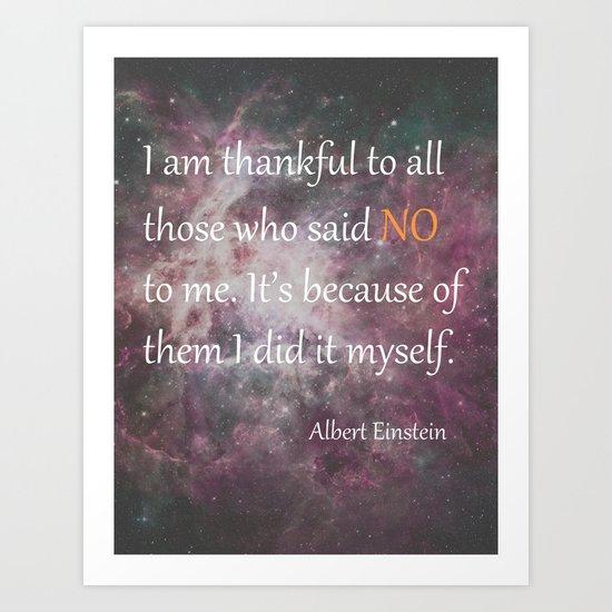 I AM THANKFUL (quote) Art Print