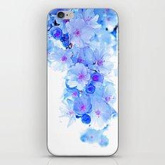Cherry Blossom.Blue iPhone & iPod Skin