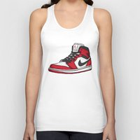 chicago bulls Tank Tops featuring Jordan 1 OG (Chicago) by Pancho the Macho
