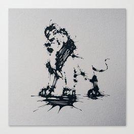 Splaaash Series - Animal King Ink Canvas Print