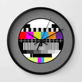 Television Color Test Wall Clock