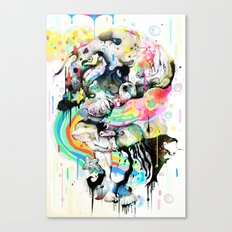 Ink Fight Colors Canvas Print
