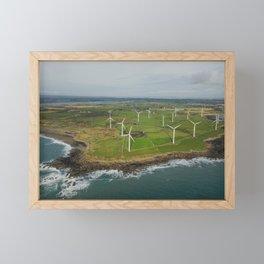 Aerial view of Carnsore Wind Farm Framed Mini Art Print