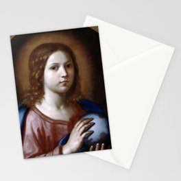 Unknown Artist (Bologna or Florence) - Salvator Mundi (17th Century) Stationery Cards