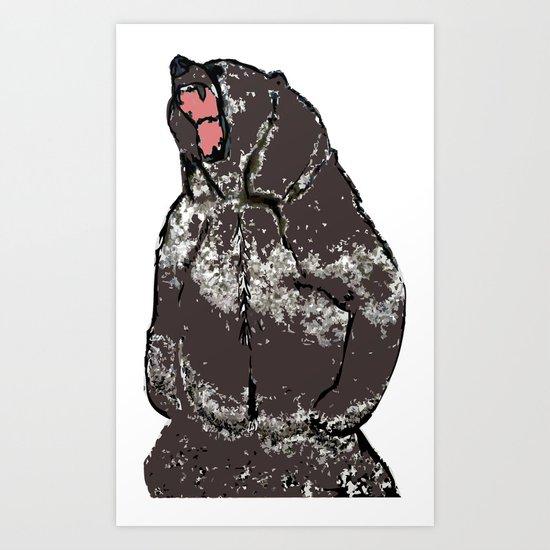 He's a bear in a bad mood Art Print