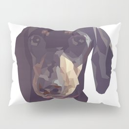 Geometric Sausage Dog Digitally Created Pillow Sham