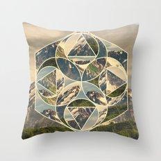 Geometric mountains 1 Throw Pillow
