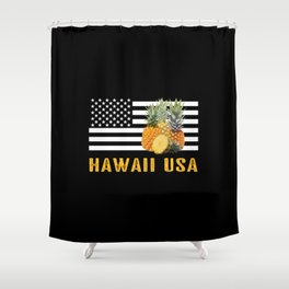 Hawaii, Pineapples Shower Curtain