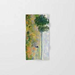Poppy Fields near Argenteuil by Claude Monet Hand & Bath Towel