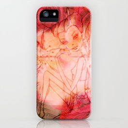 girl butterfly iPhone Case