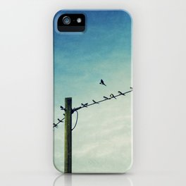 stepping out of line iPhone Case