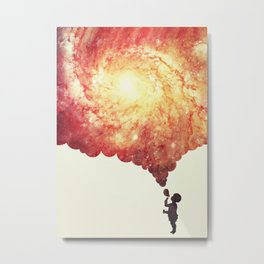 The universe in a soap-bubble! (Awesome Space / Nebula / Galaxy Negative Space Artwork) Metal Print