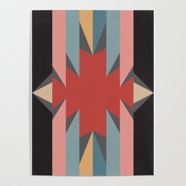 Red Star - Style Me Stripes Poster