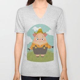 this little piggy Unisex V-Neck