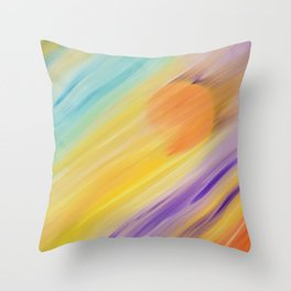 """""""Catch the Sun #1 – Sequel #1"""" Oil Painting Throw Pillow"""